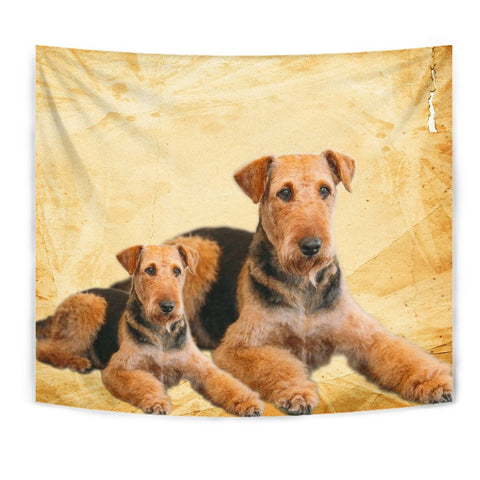 Airedale Terrier Dog Print Tapestry