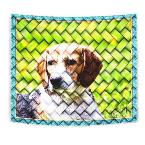 Beagle Dog Art Print Tapestry