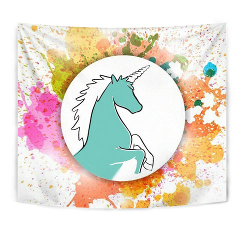 Colorful Unicorn Print Tapestry