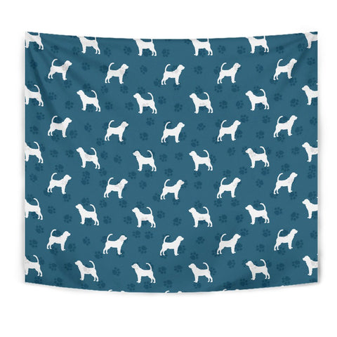Bloodhound Dog Paws Pattern Print Tapestry