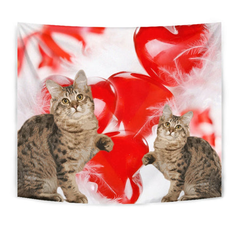American Bobtail Cat Print Tapestry
