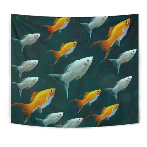 Amazing Mollie Fish Print Tapestry