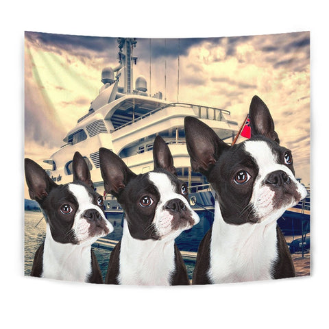 Amazing Boston Terrier Print Tapestry
