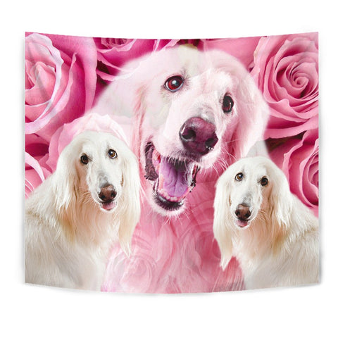 Afghan Hound Dog Print Tapestry