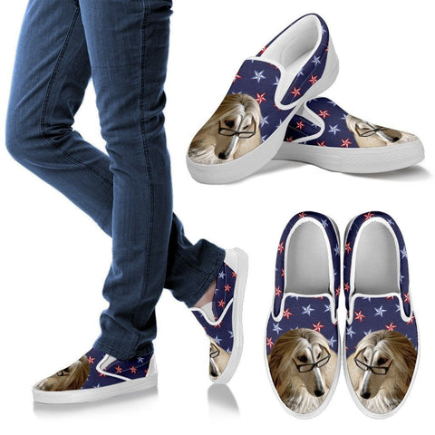Afghan Hound Dog Print Slip Ons For WomenExpress Shipping