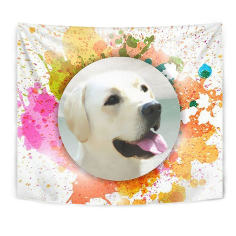 Colorful Labrador Retriever Print Tapestry