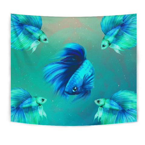 Betta Fish Art Print Tapestry