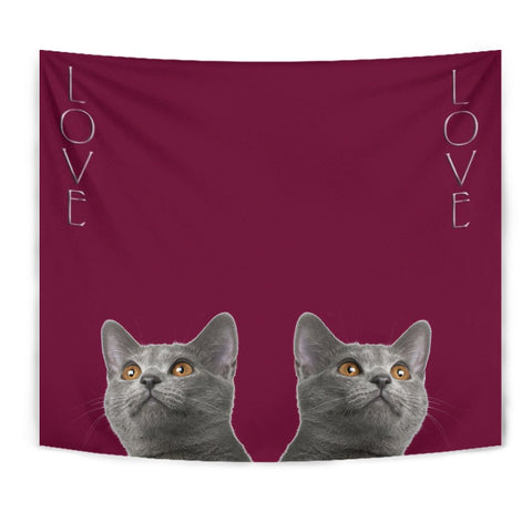 Chartreux Cat Print Tapestry