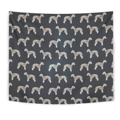 Bedlington Terrier Dog Pattern Print Tapestry