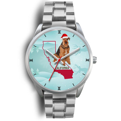 Airedale Terrier California Christmas Special Wrist Watch