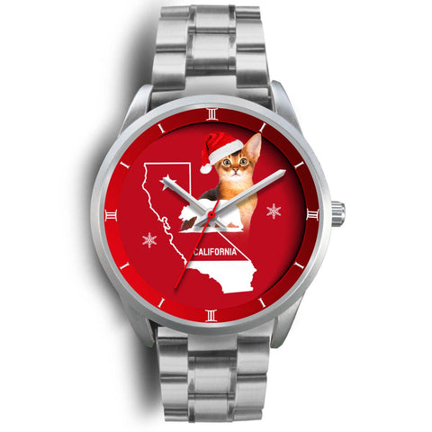 Abyssinian Cat California Christmas Special Wrist Watch
