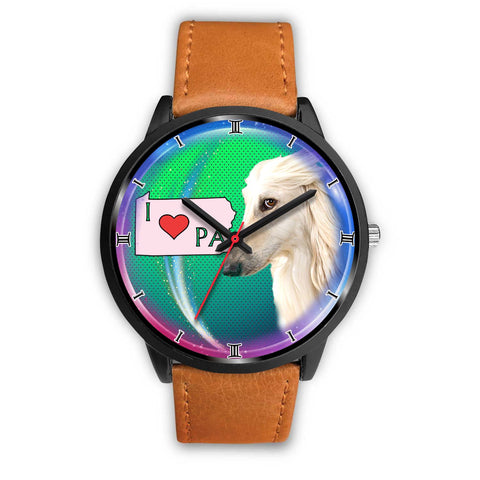 Afghan Dog Pennsylvania Christmas Special Wrist Watch