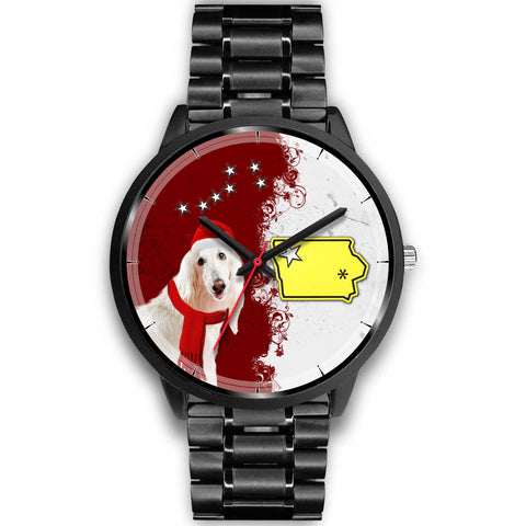 Afghan Hound Iowa Christmas Special Wrist Watch