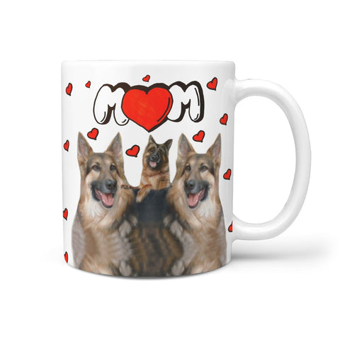 German Shepherd MOM Print 360 White Mug