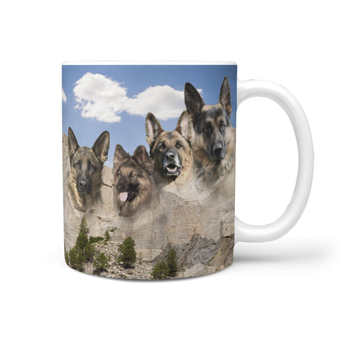 German Shepherd Mount Rushmore Print 360 Mug