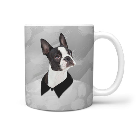 Amazing Boston Terrier Print 360 White Mug