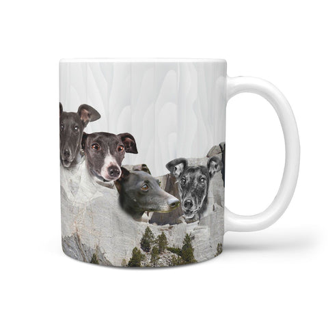 Italian Greyhound Dog Mount Rushmore Print 360 Mug