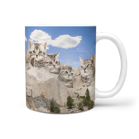 American Shorthair Cat Mount Rushmore Print 360 Mug