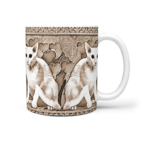 Oriental Shorthair Cat Print 360 White Mug