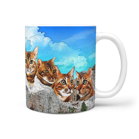 Bengal Cat Art Mount Rushmore Print 360 Mug