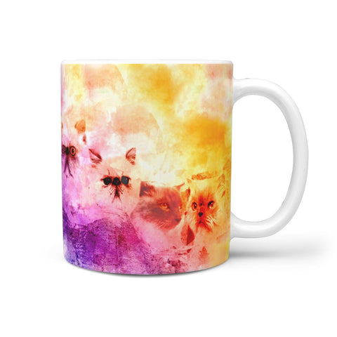Himalayan Cat Painting Mount Rushmore Print 360 Mug