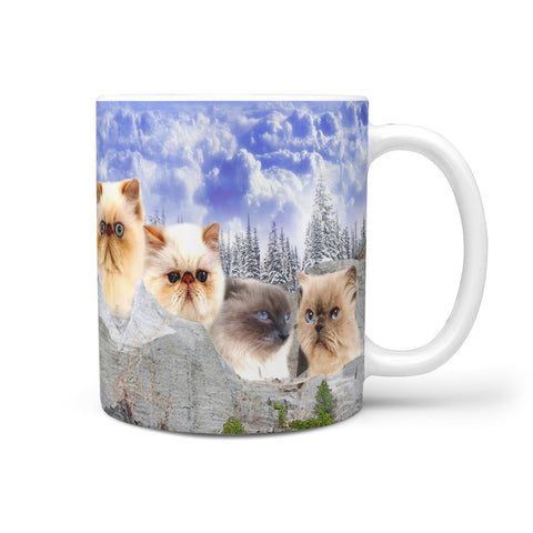 Himalayan Cat On Mount Rushmore Print 360 Mug