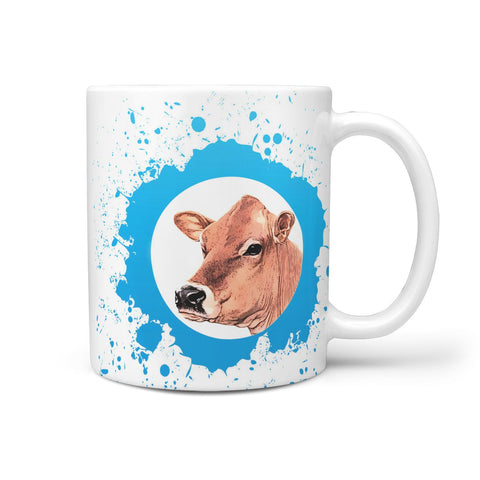 Jersey cattle (Cow) Print 360 White Mug