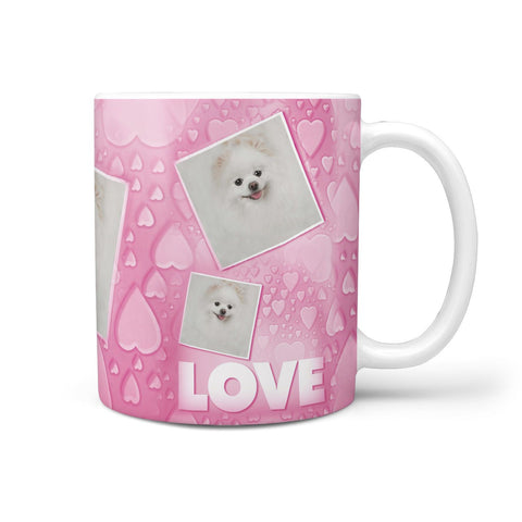 Pomeranian Dog Love Print 360 White Mug