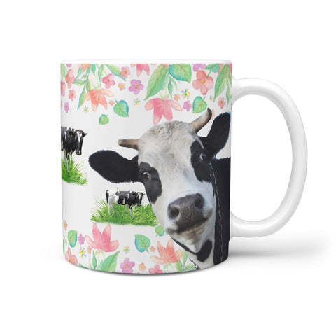 Holstein Friesian cattle (Cow) Print 360 White Mug