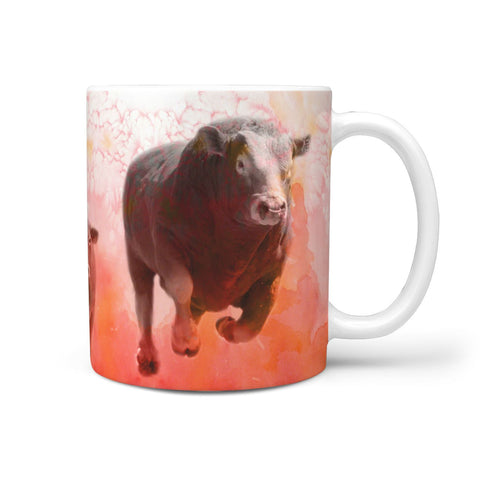 Limousin Cattle (Cow) Print 360 White Mug
