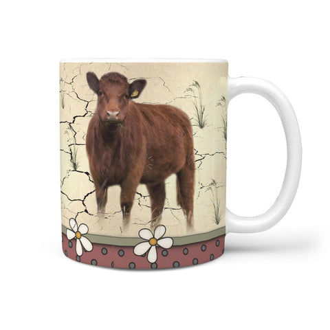 Luing Cattle (Cow) Print 360 White Mug