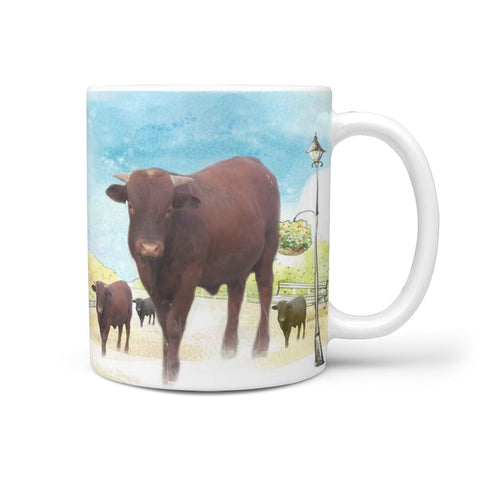 Barzona Cattle (Cow) Print 360 White Mug
