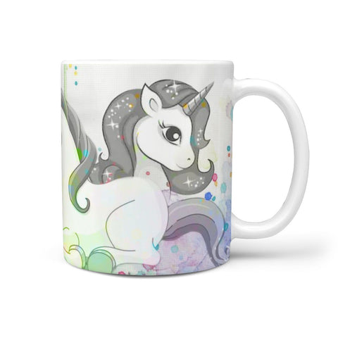 Unicorn Art Print 360 White Mug