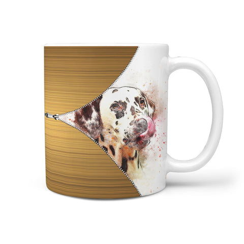 Dalmatian Dog Watercolor Print 360 Mug