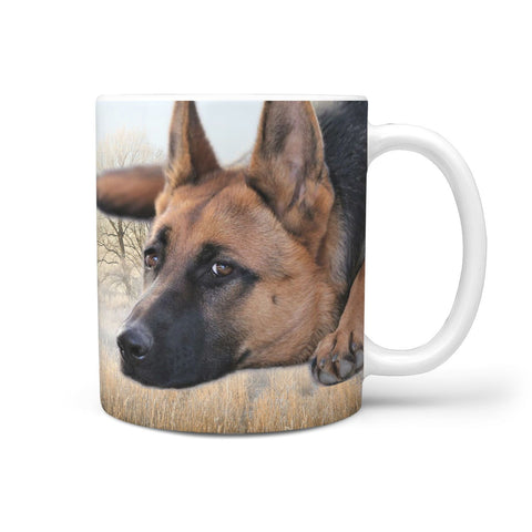 Cute German Shepherd Print 360 Mug