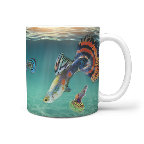 Guppies Fish Print 360 White Mug