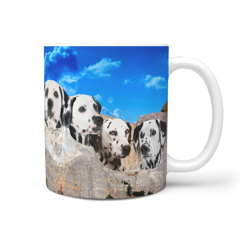 Limited Edition-Dalmatian Dog On Mount Rushmore Print 360 Mug
