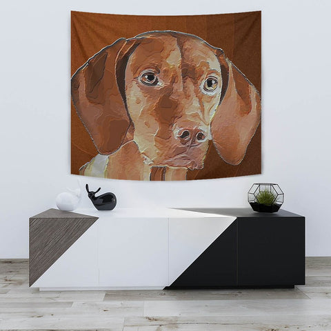 Amazing Vizsla Dog Print Tapestry