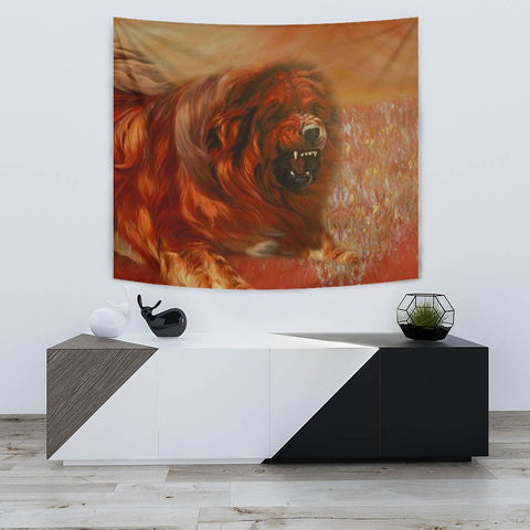 Amazing Tibetan Mastiff Dog Print Tapestry