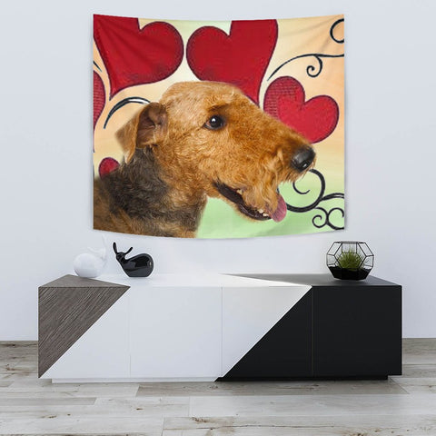 Airedale Terrier Print Tapestry