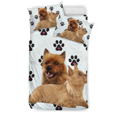 Australian Terrier With Paws Print Bedding Sets