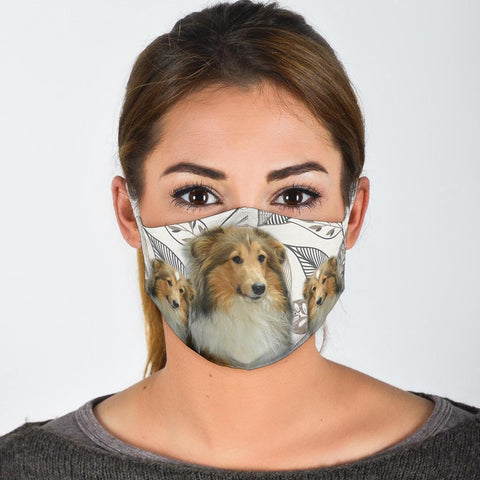 Sheltie Print Face Mask