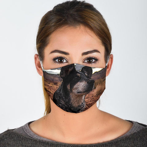Lovely Australian Cattle Dog Print Face Mask