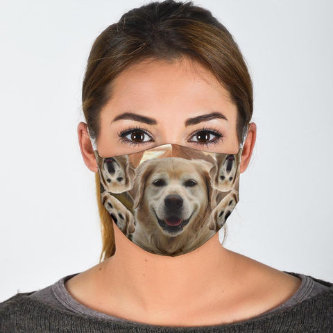 Labrador Retriever Puppy Print Face Mask