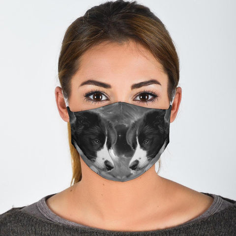 Cute Border Collie Print Face Mask