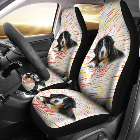 Bernese Mountain Dog Lover Print Car Seat Covers