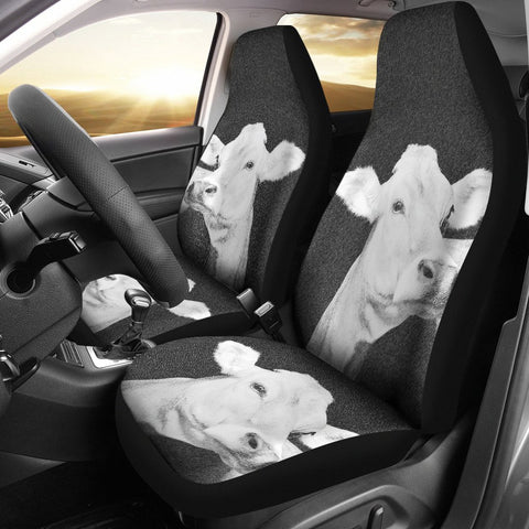 Brown Swiss cattle (Cow) Print Car Seat Covers