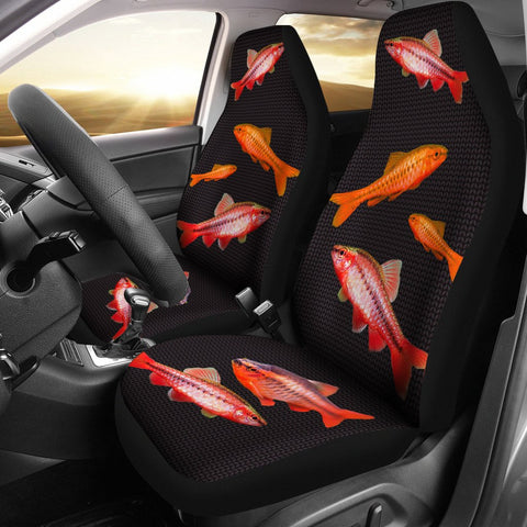 Cherry Barb Fish Print Car Seat Covers