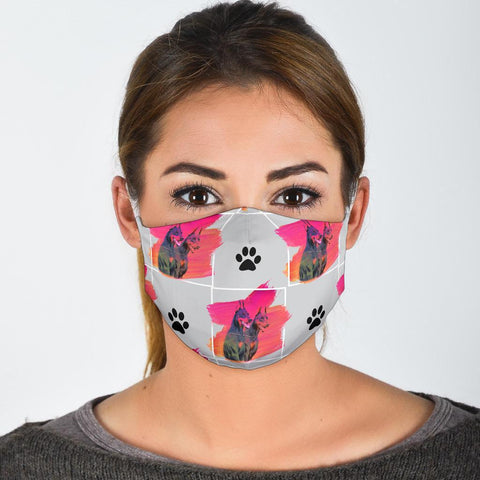 Doberman Pinscher Patterns Print Face Mask