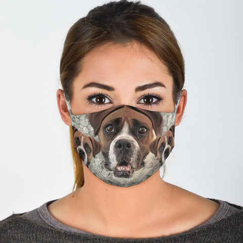 Amazing Boxer Dog Print Face Mask